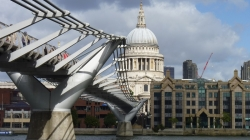 Millennium Bridge and St Pauls
