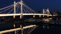 Albert Bridge by night